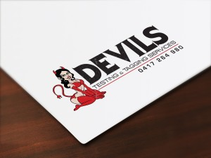 Devils Testing and Tagging logo development