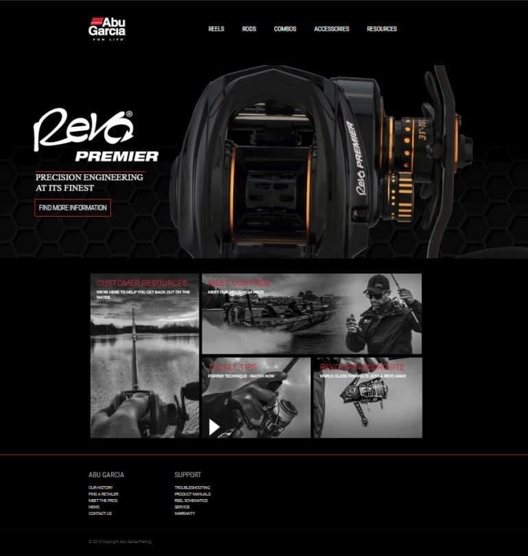 Abu Garcia fishing website