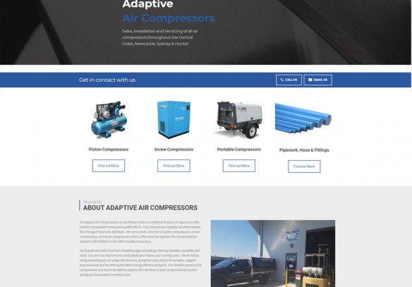Adaptive Air Compressors website