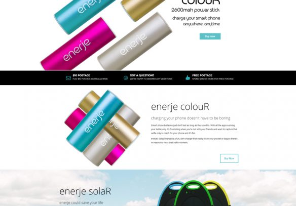 enerje powerbanks website